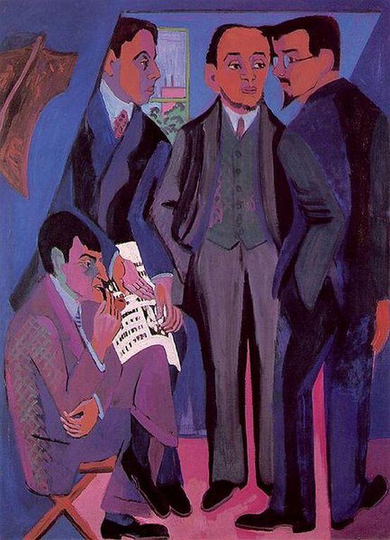 Ernst Ludwig Kirchner, né le 6 mai 1880 à Aschaffenburg, en Bavière et mort le 15 juin 1938 à Frauenkirch, près de Davos en Suisse, était un peintre expressionniste allemand et l'un des fondateurs de l'association Die Brücke.