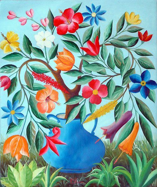 L'art naïf haïtien de FERNAND PIERRE.