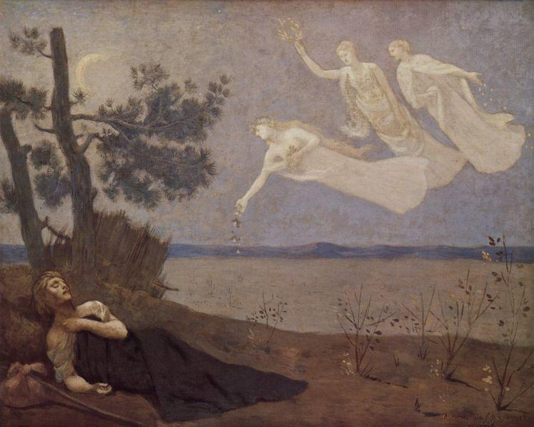 Pierre Cécile Puvis de Chavannes, né à Lyon le 14 décembre 1824 et mort à Paris le 24 octobre 1898, est un peintre français, considéré comme une figure majeure du mouvement symboliste.