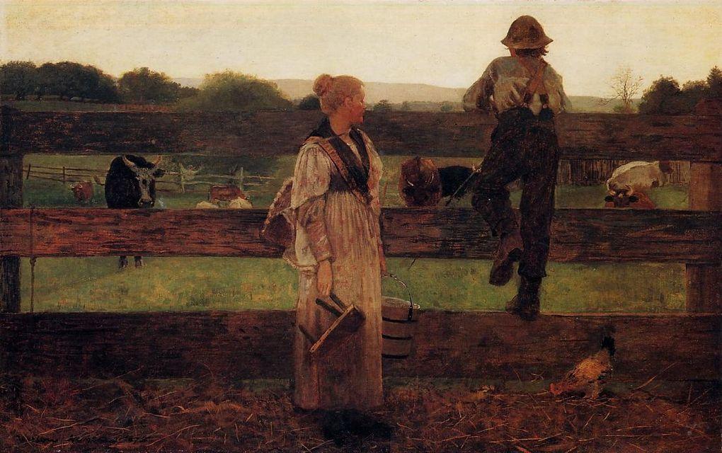 Winslow Homer (24 février 1836 - 29 septembre 1910) est un peintre américain surtout connu pour ses marines. En grande partie autodidacte, il est pourtant considéré comme étant l'un des principaux peintres du xixe siècle américain et l'une des