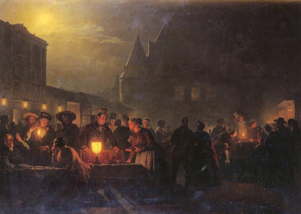 La peinture de Petrus van Schendel.