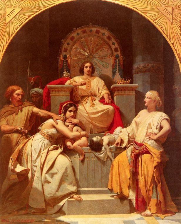Henri-Frédéric SCHOPIN (1804-1880):Né en Allemagne, naturalisé français. Il fut l'élève de Gros. Prix de Rome en 1831, il débute au Salon de 1835 et y expose jusqu'en 1879 avec des peintures de genre et des scènes d'histoire.