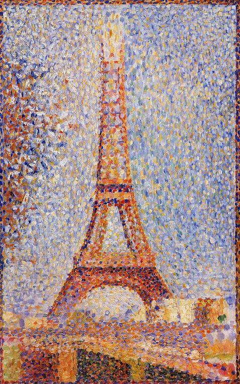 Georges Seurat (Paris 2 décembre 1859 - Paris 29 mars 1891), peintre français, pionnier du pointillisme et du divisionnisme que l'on peut qualifier d'impressionnisme scientifique. Peintre de genre, figures, portraits, paysages animés, paysages, pe