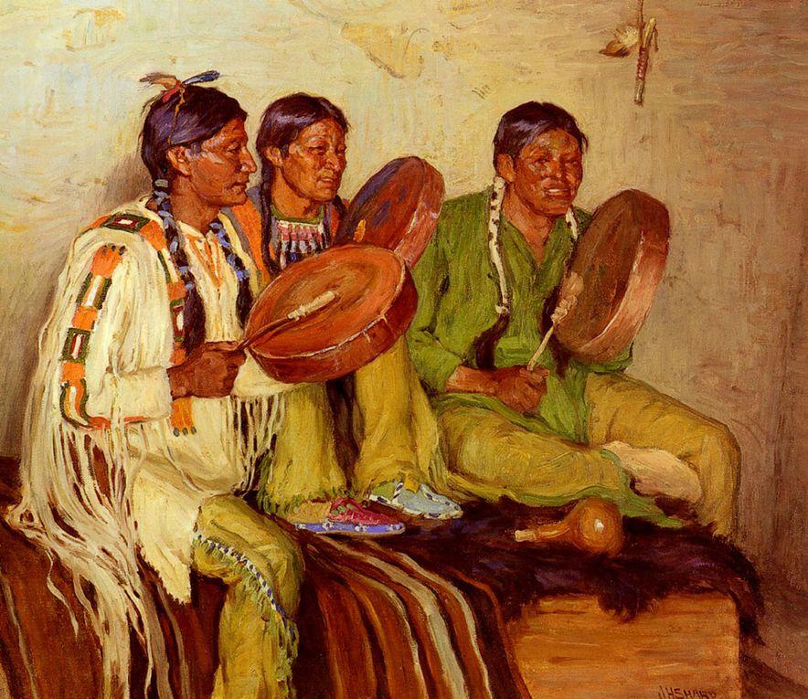 La peinture de Joseph Henry Sharp.