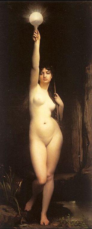 Les nus féminins et masculins présentés en art