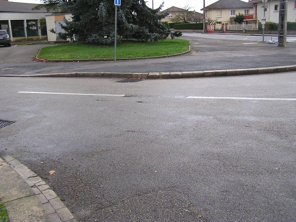 Ville de Bourg-en-Bresse avec ses bons et ses mauvais côtés - 3 décembre 2009 puis 5 décembre 2009
