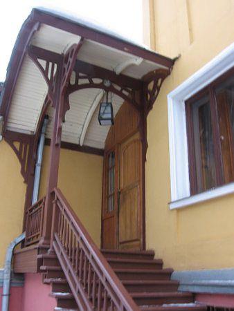 Une maison en bois en style art nouveau. Le bâtiment fait pour un des négociants de Moscou a plus de 100 ans...