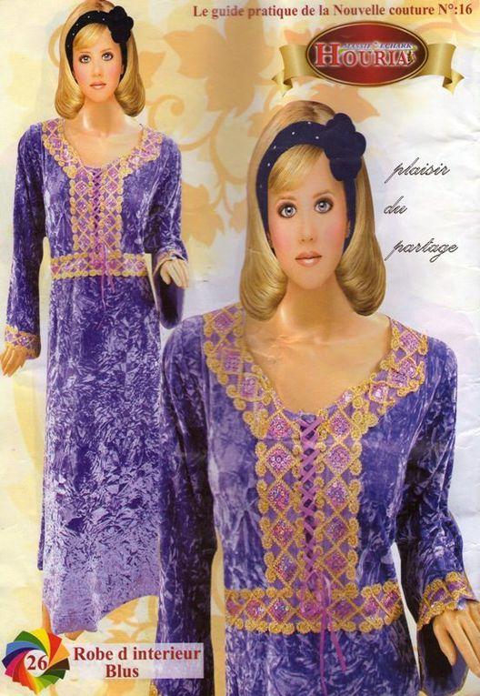 robes en velour du magazine houria 2010