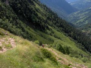 Balades dans les Pyrénées centrales sur le GR10 : de Melles vers le Plateau d'ULS..