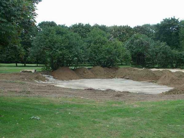 aménagement terrain de golf