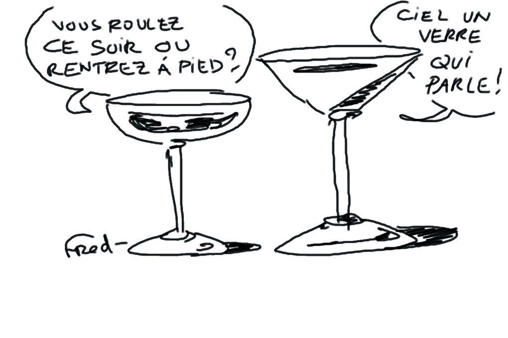 Série de dessins réalisés sur tablette graphique en direct d'un débat sur le thème de l'alcool.