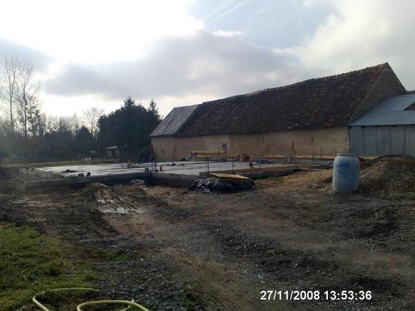 photos du chantier pris du même endroit
