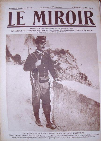 La Première Guerre mondiale vu à travers le journal Le Miroir qui présente essentiellement des photographies prises sur le vif.
