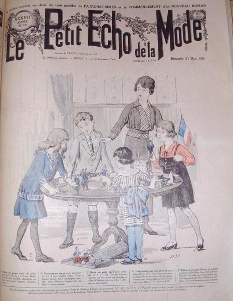 La Première Guerre Mondiale vue par Le Petit Echo de la Mode, journal de mode pour les femmes