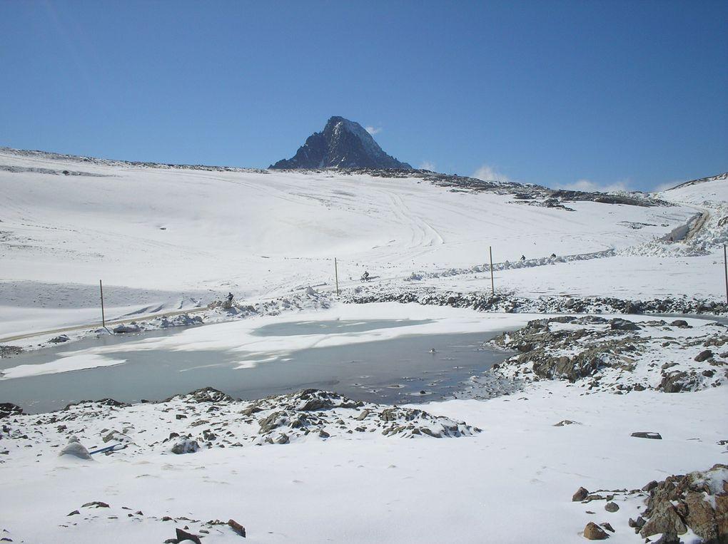 Photos de paysages prises dans la station des 2 Alpes et notamment pendant le Free Raid 2009