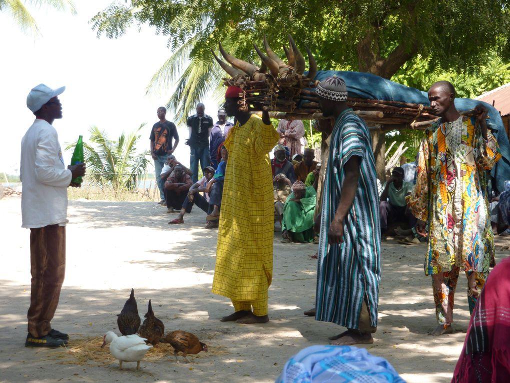 Déroulement d'une cérémonie des funérailles d'un ami Diola.