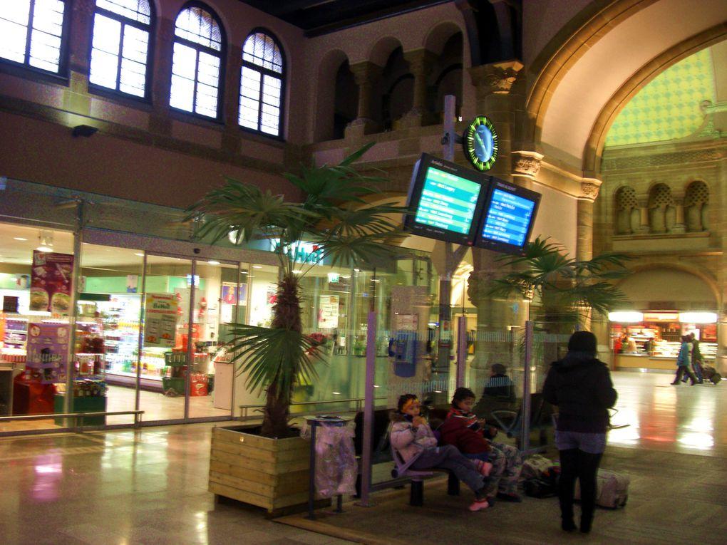 La Gare de Metz et son environnement entre Noël et Nouvel An 2009-2010.