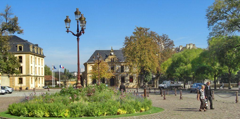 Île de Saulcy, Opéra-théâtre, temple protestant, place de la Comédie, pont st Marcel, la Moselle