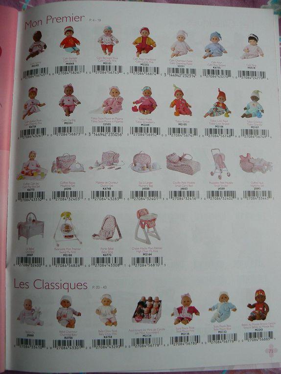 Le petit catalogue est plus complet que le grand mais ce dernier contient des supports merchandising, photos en fin d'album.Le babi corolle est inclus.Imprimé en mars 2008.