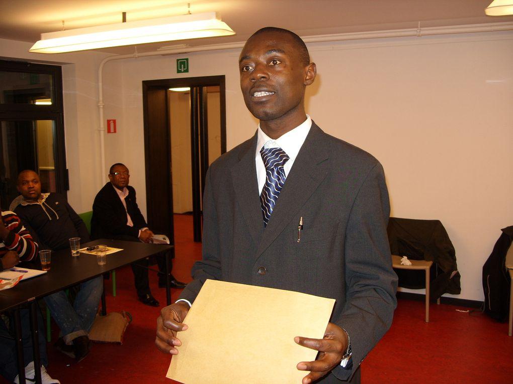 Conférence de Bruxelles 27 Fev 2010Le jury dévoile les lauréats du Prix Moumié 2009-2010