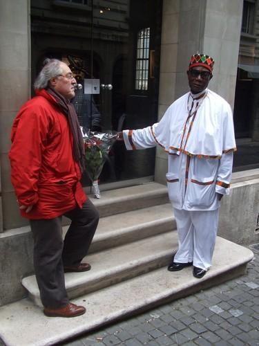 Photos historiques des cérémonies marquant le 47e anniversaire de l'assassinat de Félix Moumié, et de la remise du Prix Moumié au Combattant Mboua Massok, les 3 et 4 novembre 2007 à Genève