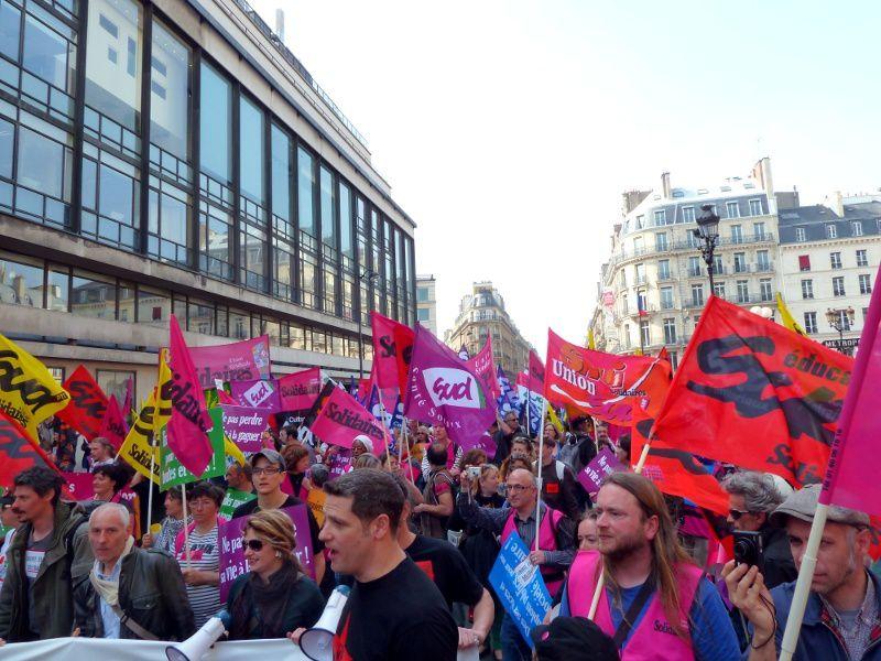 Manifestation nationale pour l'emploi  de l'Union syndicale Solidaires