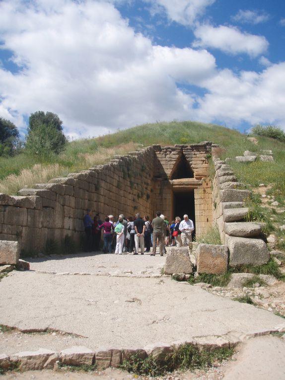 Sites de Mycènes, d'Epidaure, d'Olympie, de Delphes et d'Athènes ( Céramiques et Acropole)successivement.