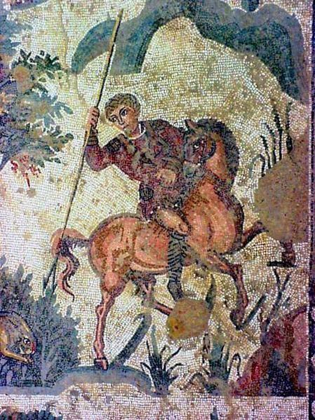 Mosaïques romaines de la villa Casale du III° siècle après JC. (SICILE)