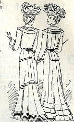 """Gravures de magazines """"La mode illustrée"""" de 1902"""
