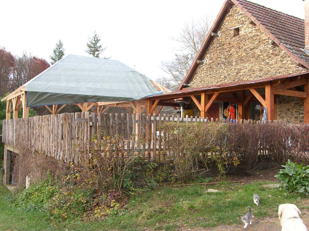 Toutes les photos de la charpente et de la couverture de notre terrasse...