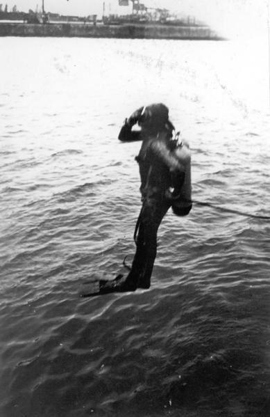 Début de ma longue carrière de plongeur - scaphandrier