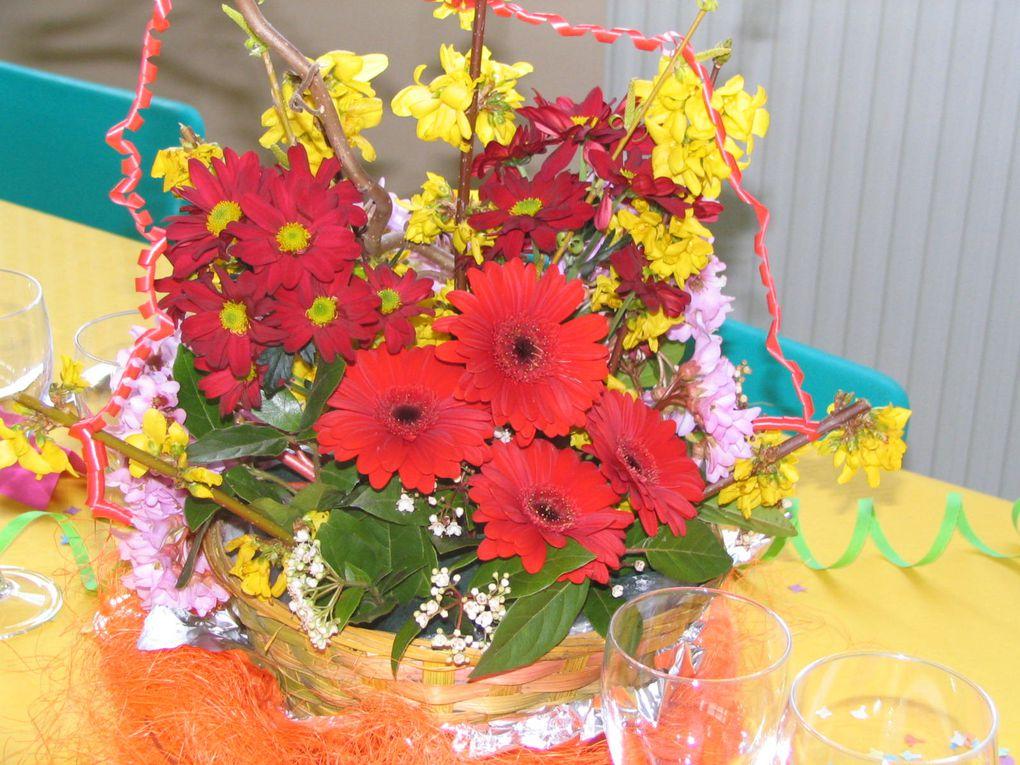Jolies tables et compositions florales