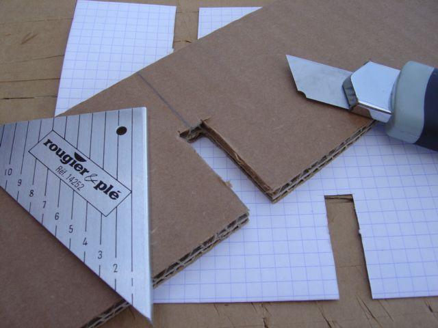 Carton et bois , démontable et modulable... à suivre