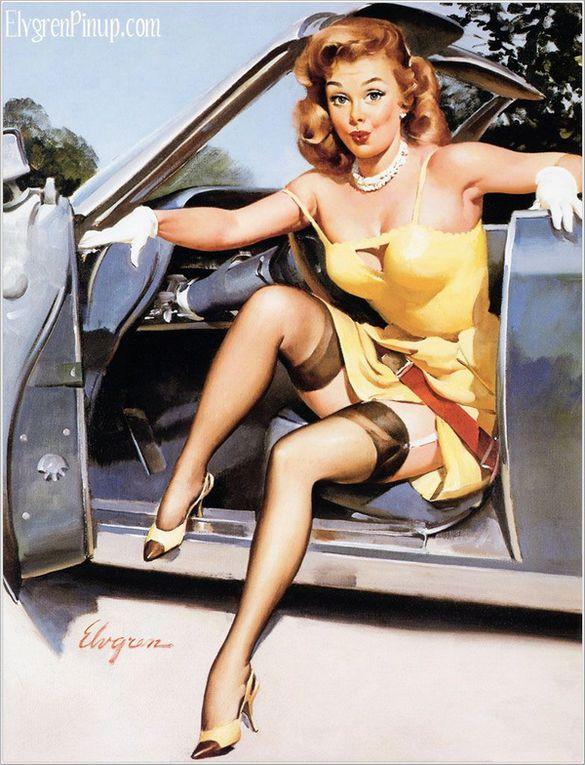 """""""Une pin-up est une femme dont on accroche la représentation photographique ou artistique dans une pose attirante ou « sexy », d'où l'expression anglaise de « pin-up girl » qui pourrait se traduire en français par « jeune fille épinglée au"""