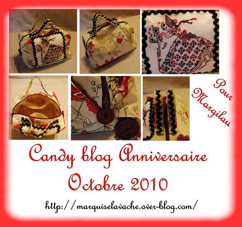 un cadeau par mois que je confectionne pour une copinaute s'étant inscrite à ce grand candy blog Anniversaire 2010