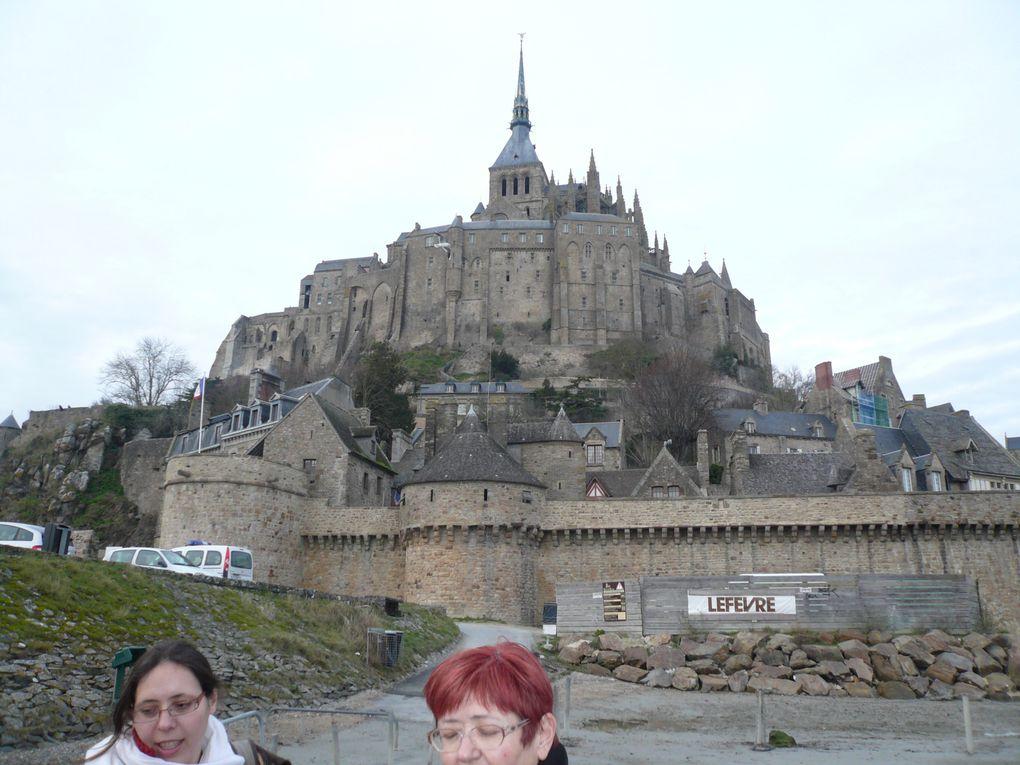 visite du mont Saint Michel avec maman, Valérie et Noémie début février 2010