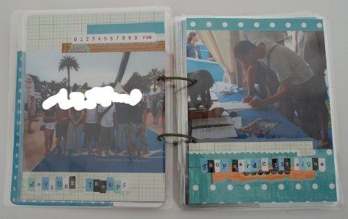 album plastifié retraçant l'ironman de nice 2010 de manu