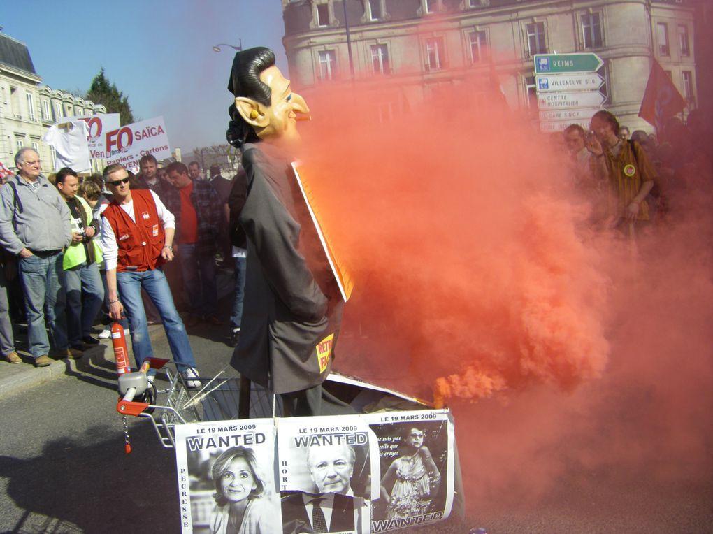 Photo manifestation du 19 mars 2009 à Soissons