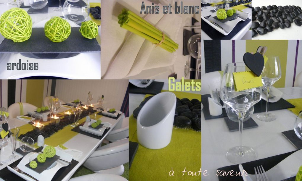Album - table galets et ardoise