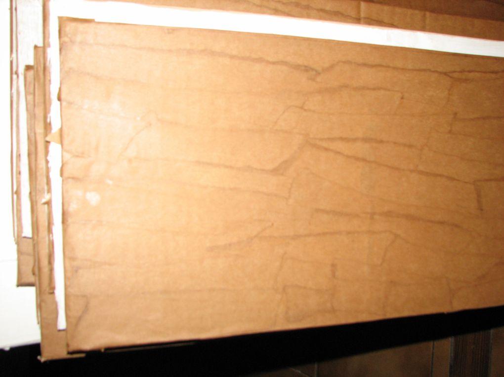 Comment j'ai caché un escalier et faire des contre-marches en carton
