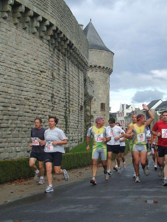 La corrida de Guérande le 8 novembre 2009 sous la pluie.