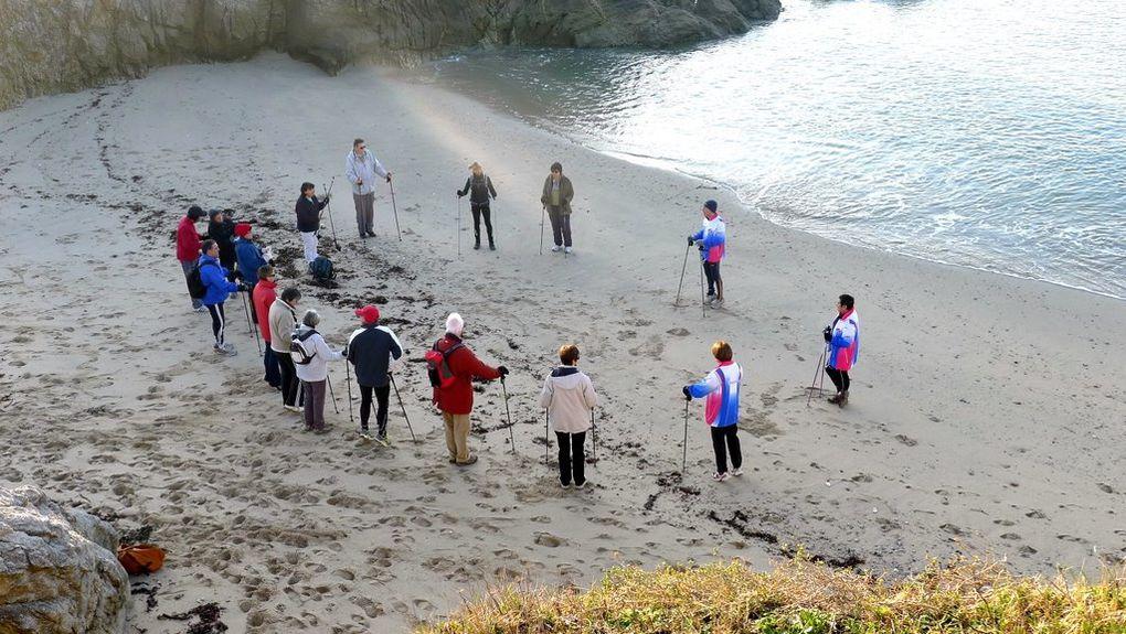 Initiation à la marche nordique par beau temps de janvier 2012