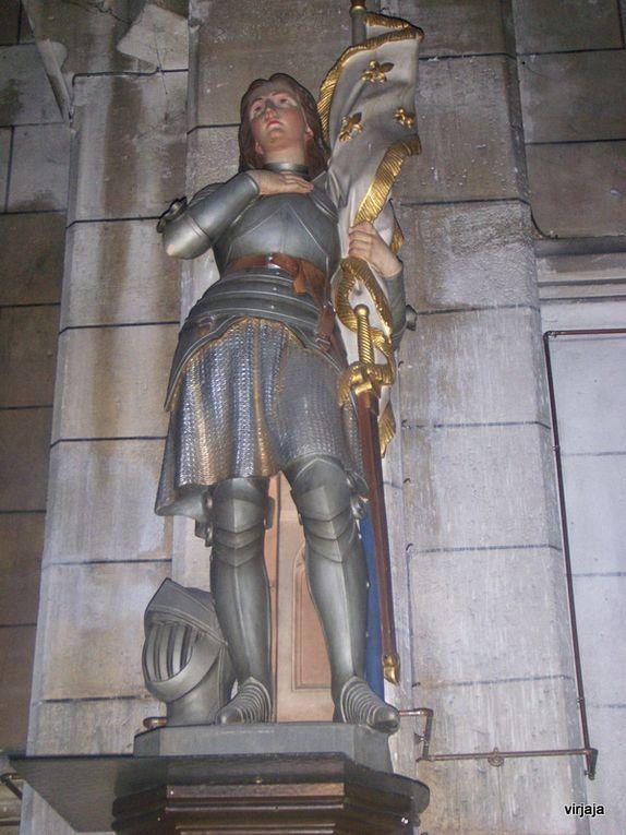 différente statues de Jeanne d'arc en France