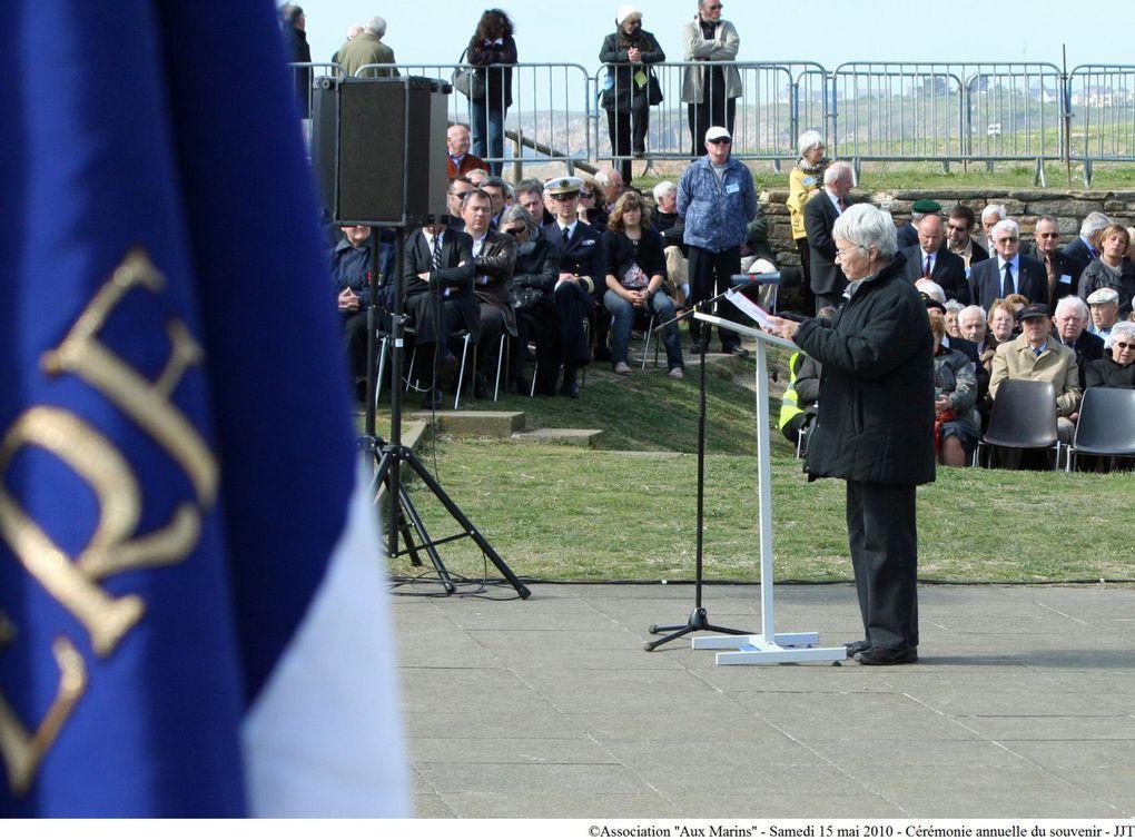 Samedi 15 mai 2010 à 16 H 00 au Mémorial National des Marins Morts pour la France.Sixième édition de la cérémonie annuelle du souvenir présidée par M. Gérard Delbauffe, président général du Souvenir Français.