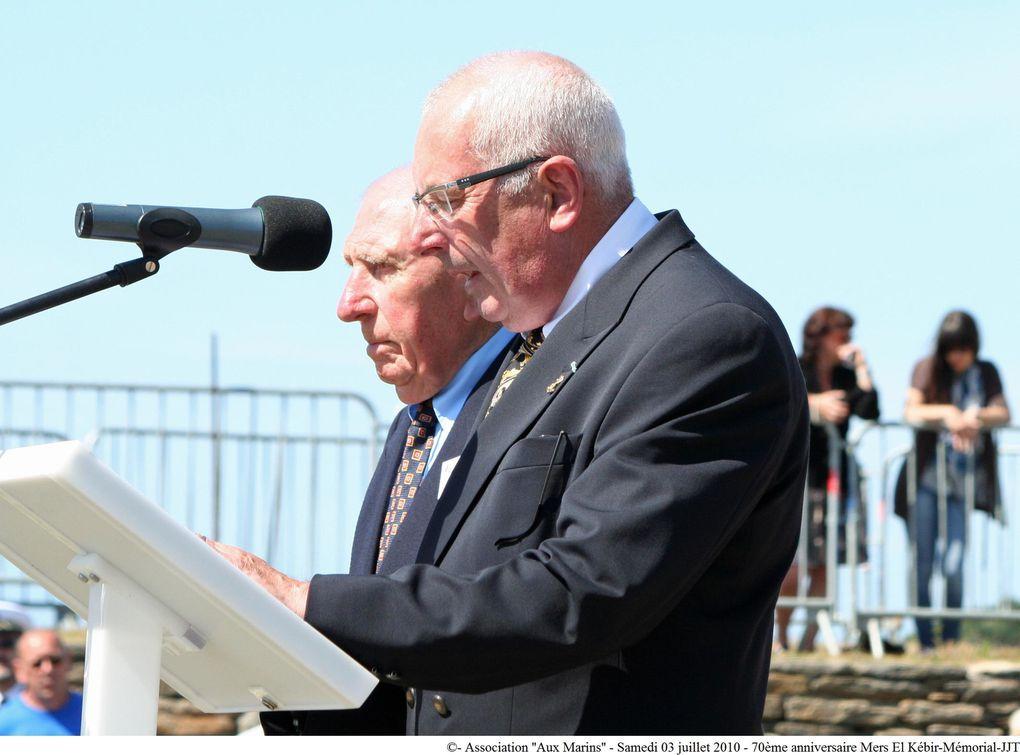 03 juillet 2010-Commémoration du 70ème anniversaire de la tragédie maritime de Mers-el-Kébir au mémorial national des marins morts pour la France de la Pointe Saint Mathieu (2ème partie)