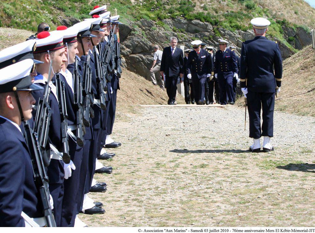 3 juillet 2010-Commémoration du 70ème anniversaire de la tragédie maritime de Mers-el-Kébir au mémorial national des marins morts pour la France de la Pointe Saint Mathieu (1ère partie)
