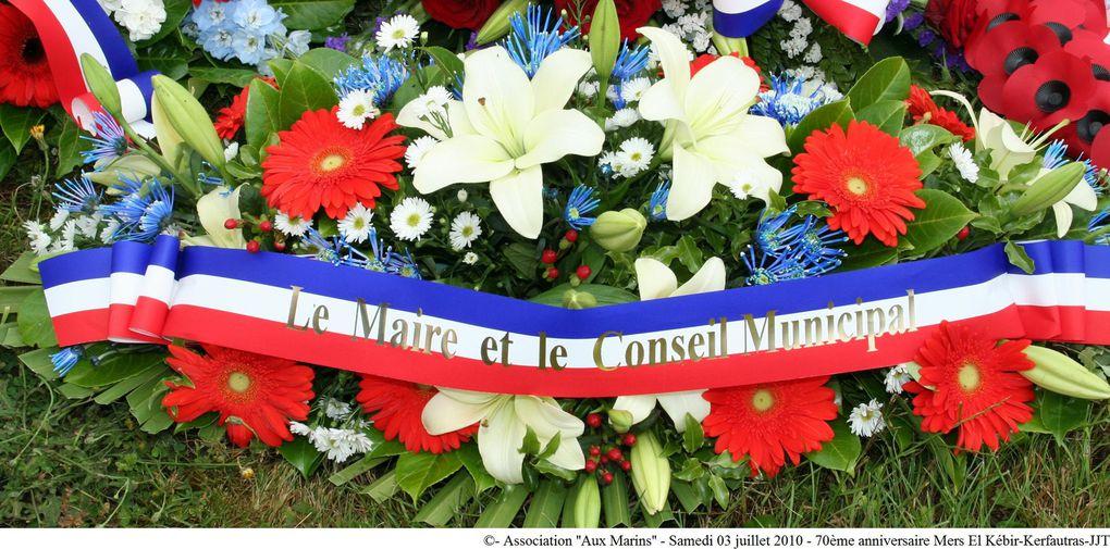 03 juillet 2010-Commémoration du 70ème anniversaire de la trégédie maritime de Mers-el-Kébir au cimetière de Kerfautras à Brest (Finistère)
