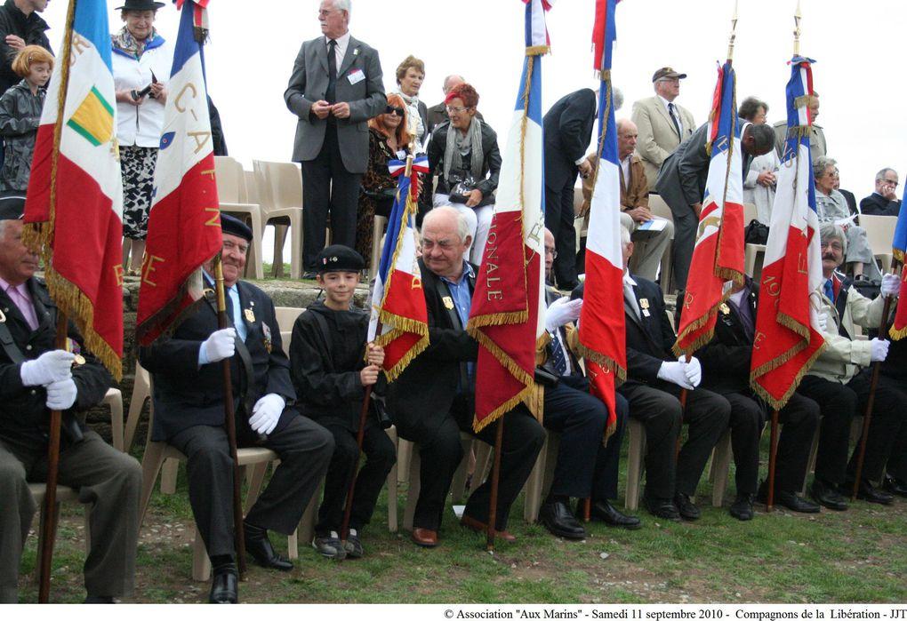 11 septembre 2010-Cérémonie à la mémoire des marins compagnons de la libération morts pour la France au mémorial national de la Pointe Saint Mathieu en Plougonvelin (Finistère)