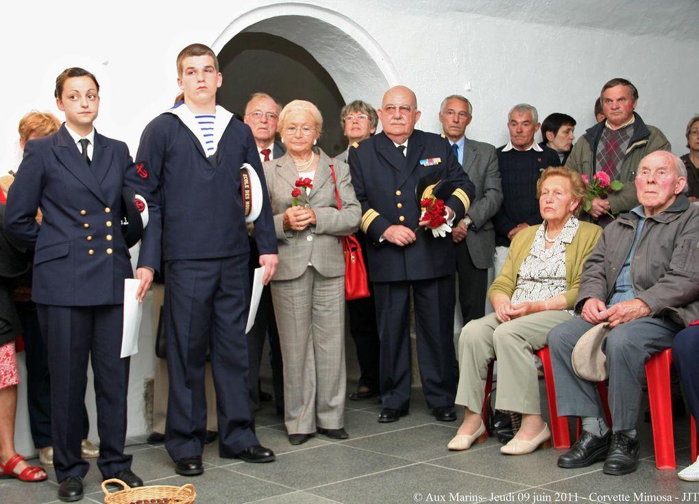 Le jeudi 09 juin 2011 - Mémorial national des marins morts pour la France, cérémonie à la mémoire des 64 marins de la corvette Mimosa disparus le 9 juin 1942 au large de La Rochelle suite au torpillage du bâtiment par le sous-marin U 124.