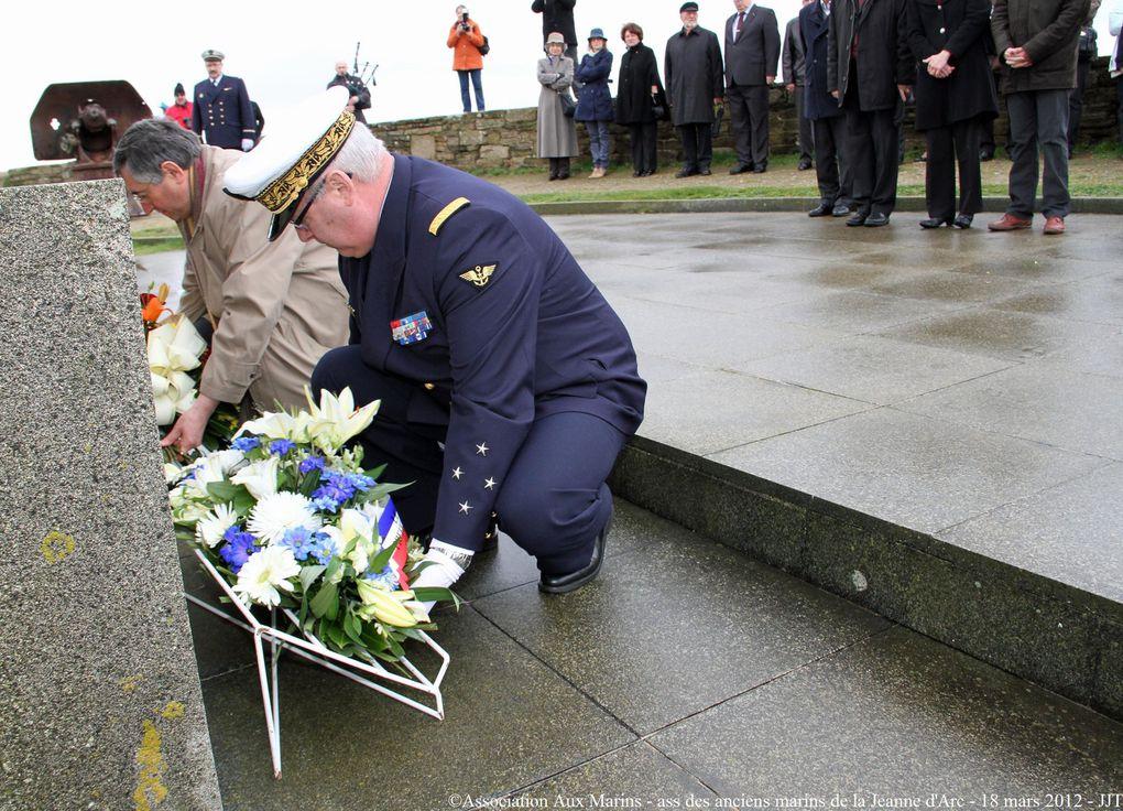 Dimanche 18 mars visite des anciens marins de la Jeanne d'Arc au Mémorial National des marins morts pour la France de la Pointe Saint Mathieu en Plougonvelin (Pays d'Iroise)